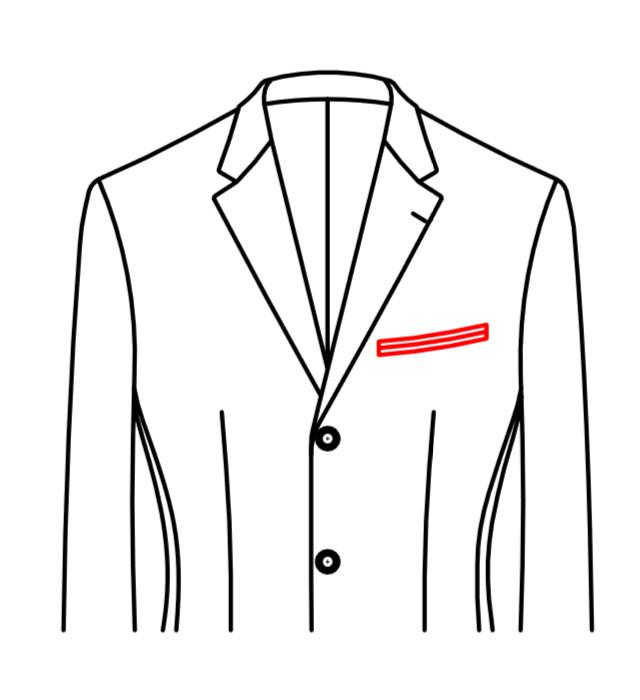 商务外套款式图手绘